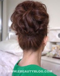 Cute Long Hair Up Do- check out her blog!! She has some adorable & easy hair do tutorials!!!