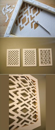 Fun DIY Craft Ideas – 72 Pics – I would do this with a different color on the wall behind the picture :)