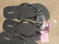 DIY Flip Flops for my Bridesmaids : wedding black bridesmaid gift 1 bridesmaids diy flip flops reception rhinestones ribbon shoes Flips
